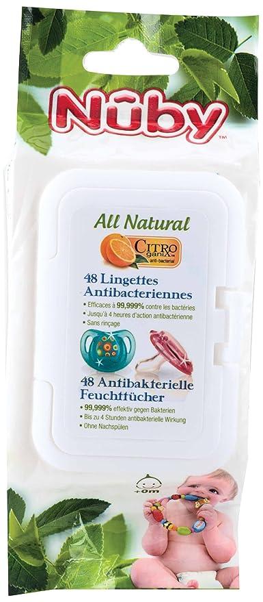 Nûby CG 40048 Citr oganix antibacteriano toallitas