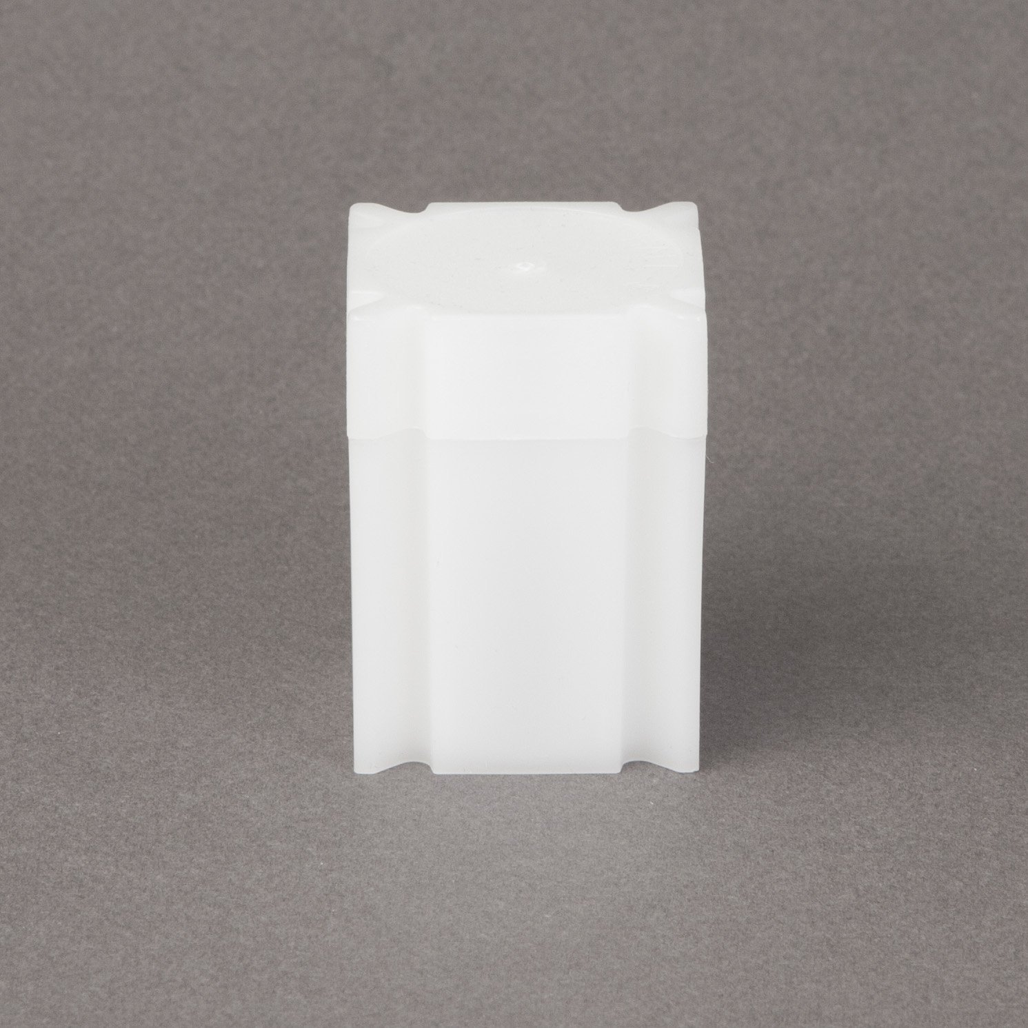 (20) Coinsafe Brand Square White Plastic (Half Dollar) Size Coin Storage Tube Holders