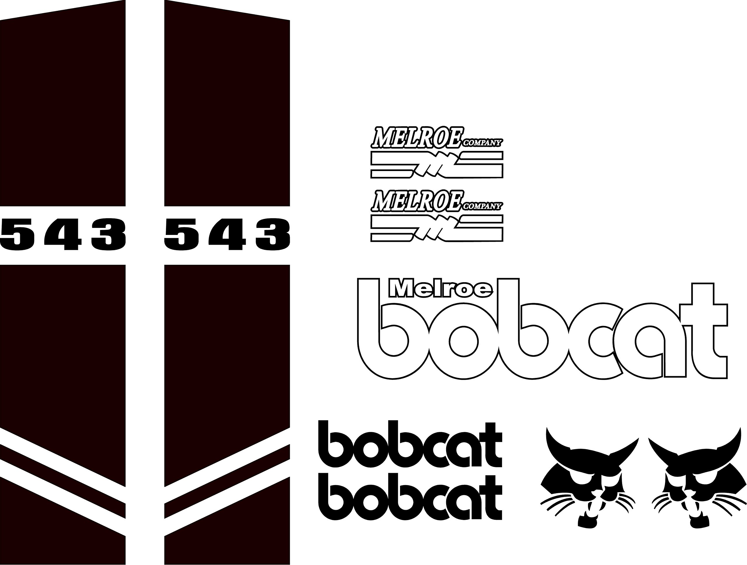543 style C decal sticker kit fits bobcat by MD