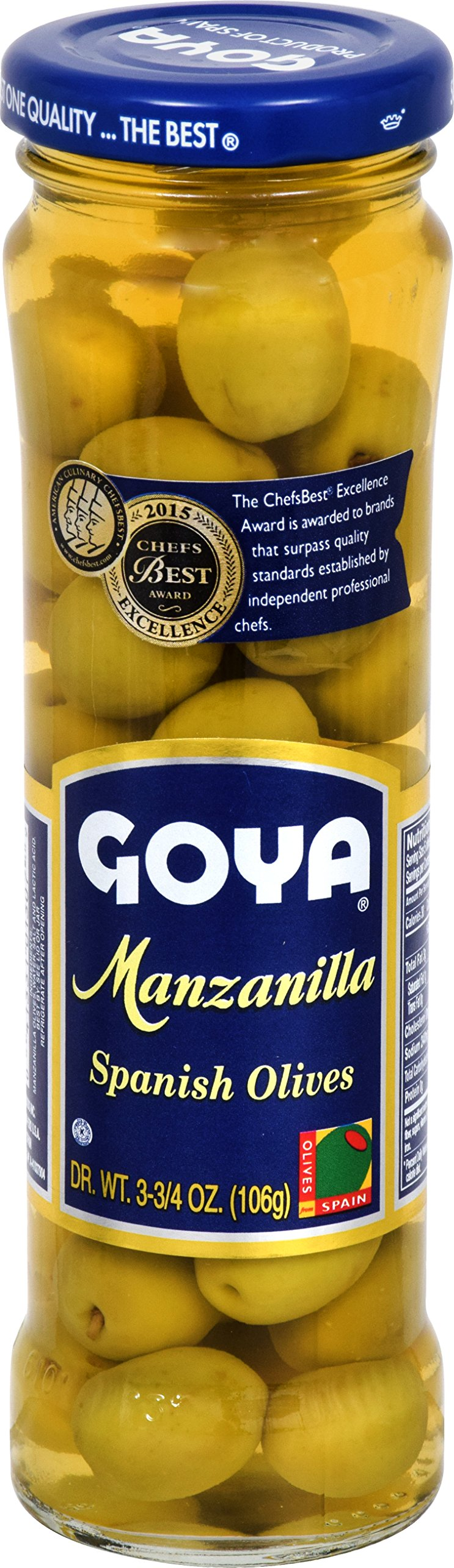 Goya Foods Manzanilla Olives, 3.75 Ounce (Pack of 24) by Goya