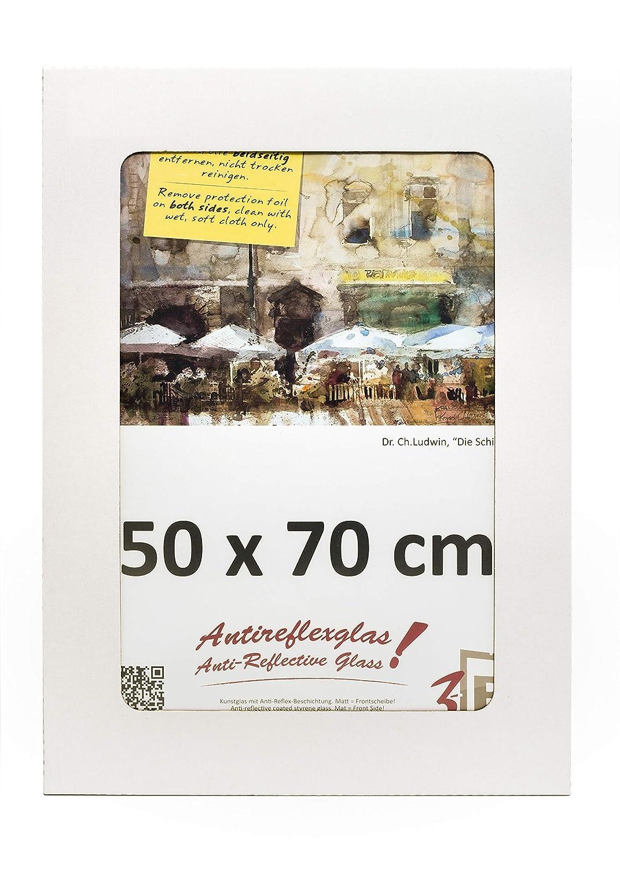 con vetro in poliestere LUMEX/® A-PET ANTIREFLESSO 3B Cornice a Giorno CLIP 50x70 cm Portafoto senza cornice
