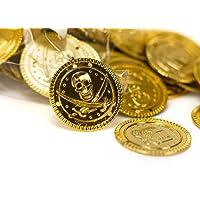BRYNNBERG - 150 monete d'oro finte   Taler d'oro   Caccia al tesoro   Oro dei pirati - Monete   Tesoro dei pirati   Partito dei pirati   Compleanno dei bambini   Decorazione   Gioca denaro   Pentola d'oro   encaustic