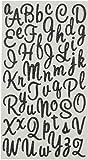 Sticko Sweetheart Black Script Alphabet Sticker