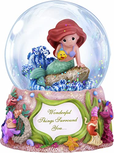 Precious Moments Disney Showcase Collection, Wonderful Things Surround You, Musical, Resin Glass Snow Globe, 132108