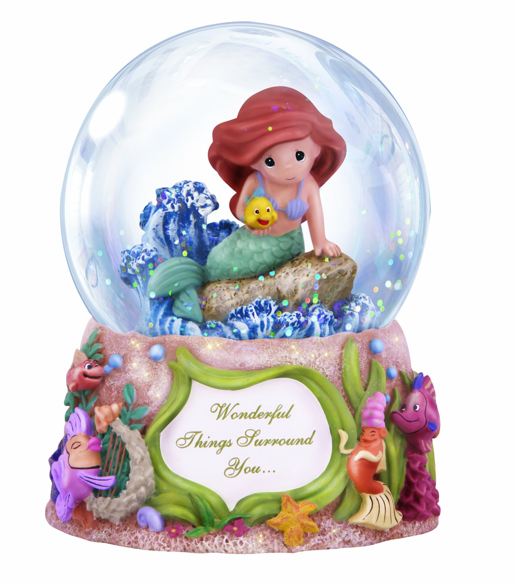 Precious Moments Disney Showcase Collection, Wonderful Things Surround You, Musical, Resin/Glass Snow Globe, 132108 by Precious Moments