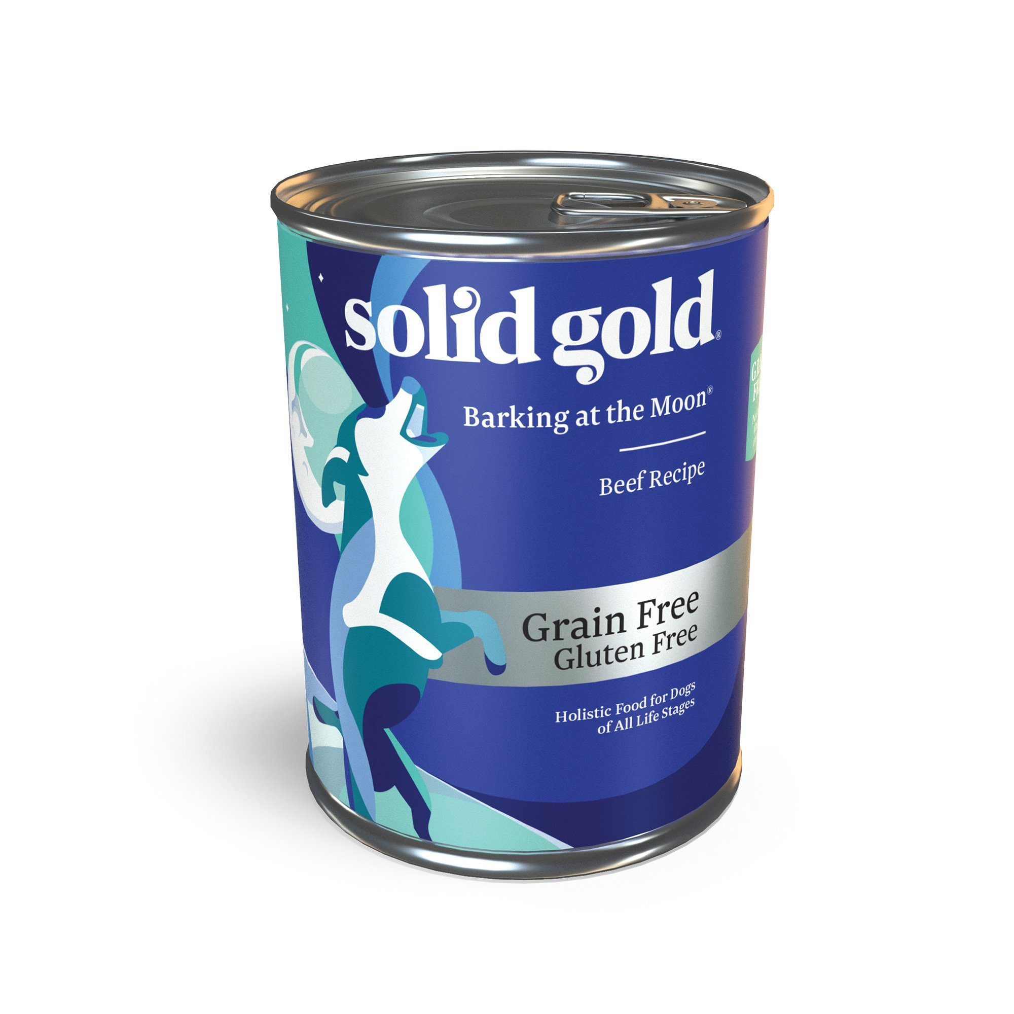 Solid Gold High Protein Wet Dog Food; Barking at The Moon Grain Free with Real Beef; 12ct/13.2oz can