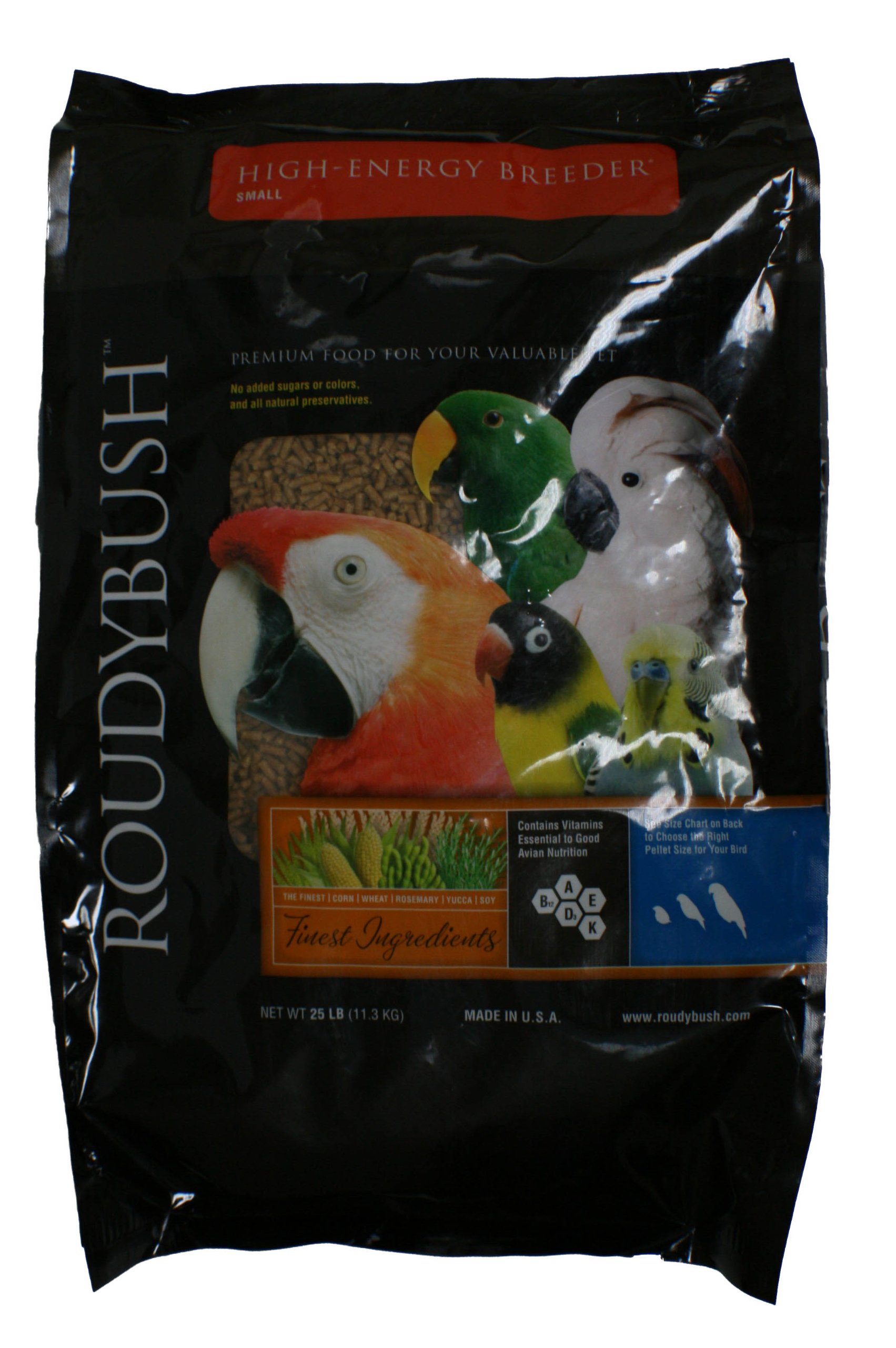 Roudybush High Energy Breeder Bird Food, Small, 25-Pound