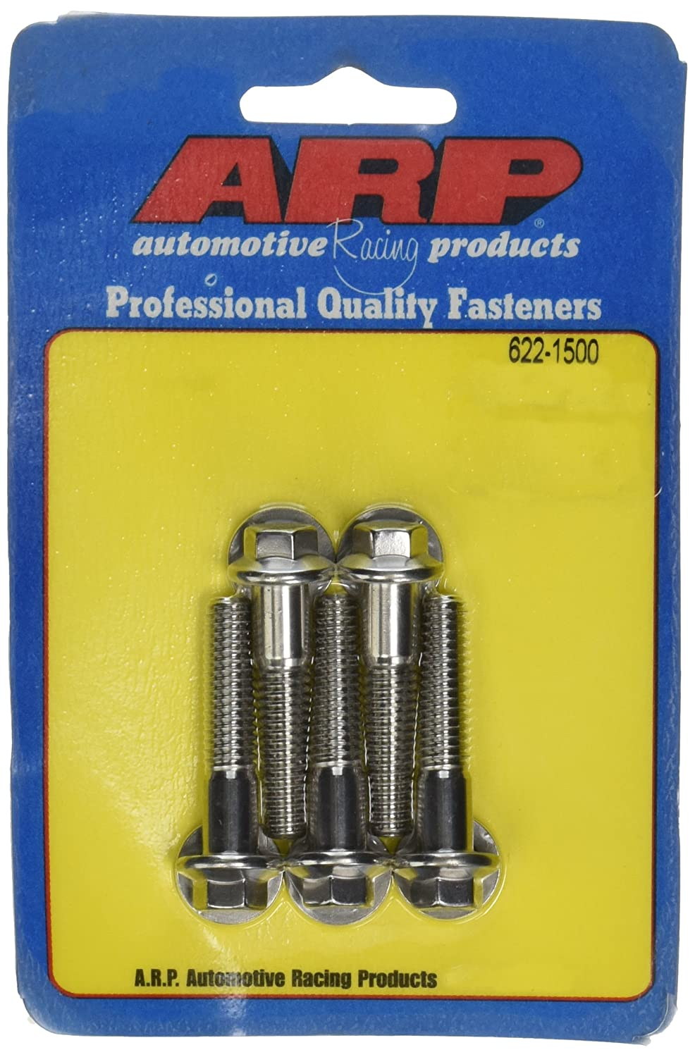 ARP 6221500 Stainless Steel 5//16-18 Hex Bolts Pack of 5