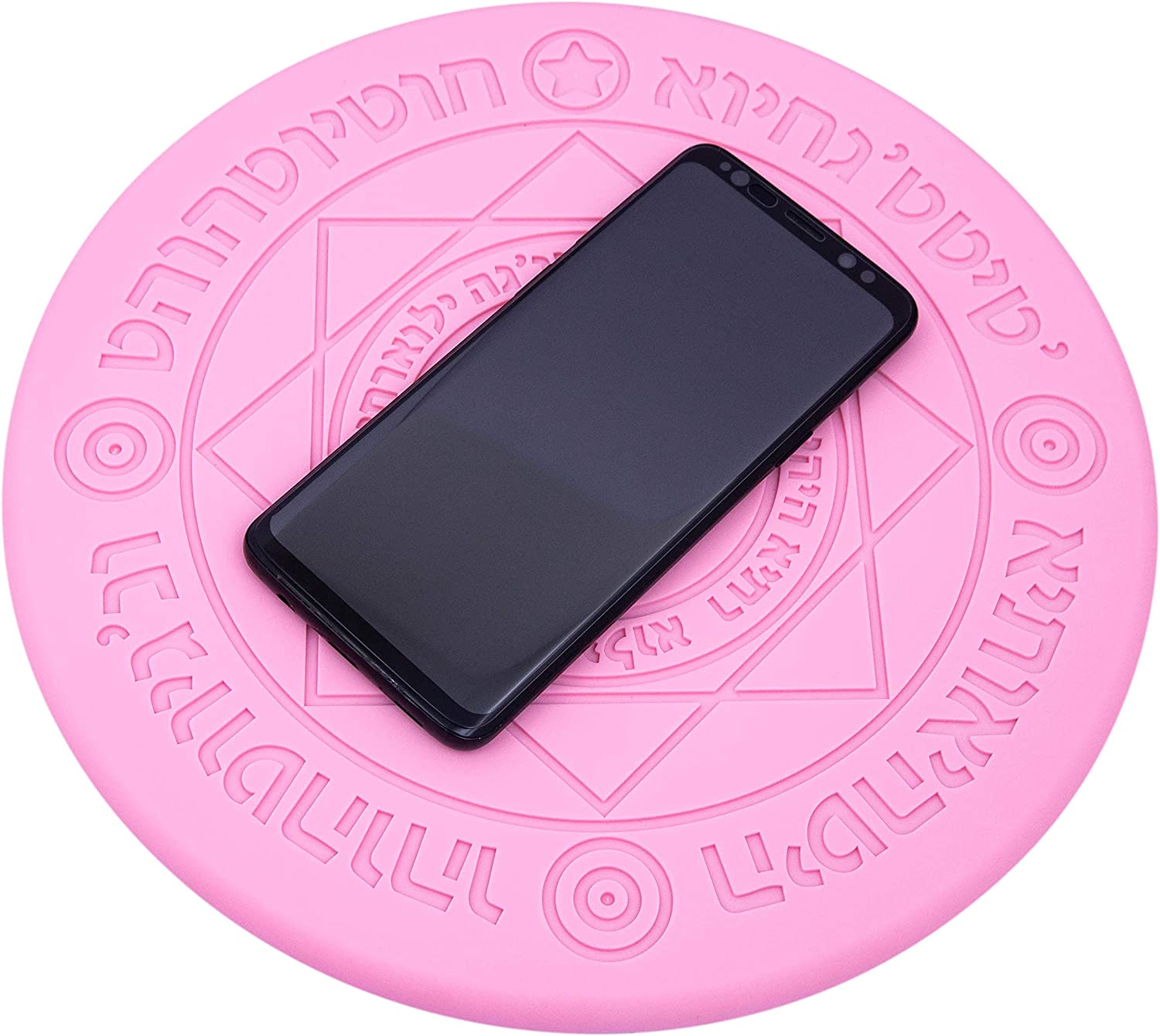 Compatible with iPhone 8//X//11//Pro Pink Mitsuru Magic Array Light Fast Qi Wireless Charger Galaxy S7// S8// S9// S10// S10+ and Others