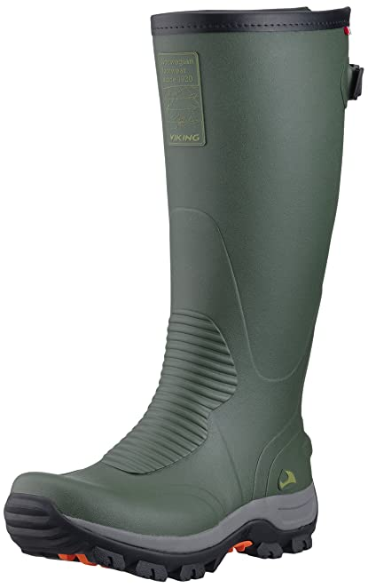 Viking Elk Hunter II, Botines Unisex Adulto, Verde-Grün (Green/Black 402), 41 EU