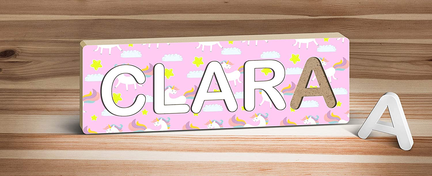 Rainbow Wooden Letter **ANY LETTER with ANY NAME** Available Personalised PURPLE
