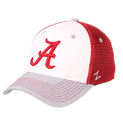 hot sale online a2172 f8f3c ZHATS NCAA Alabama Crimson Tide Mens Threepeatthreepeat Relaxed Cap, White Team  Color, Adjustable