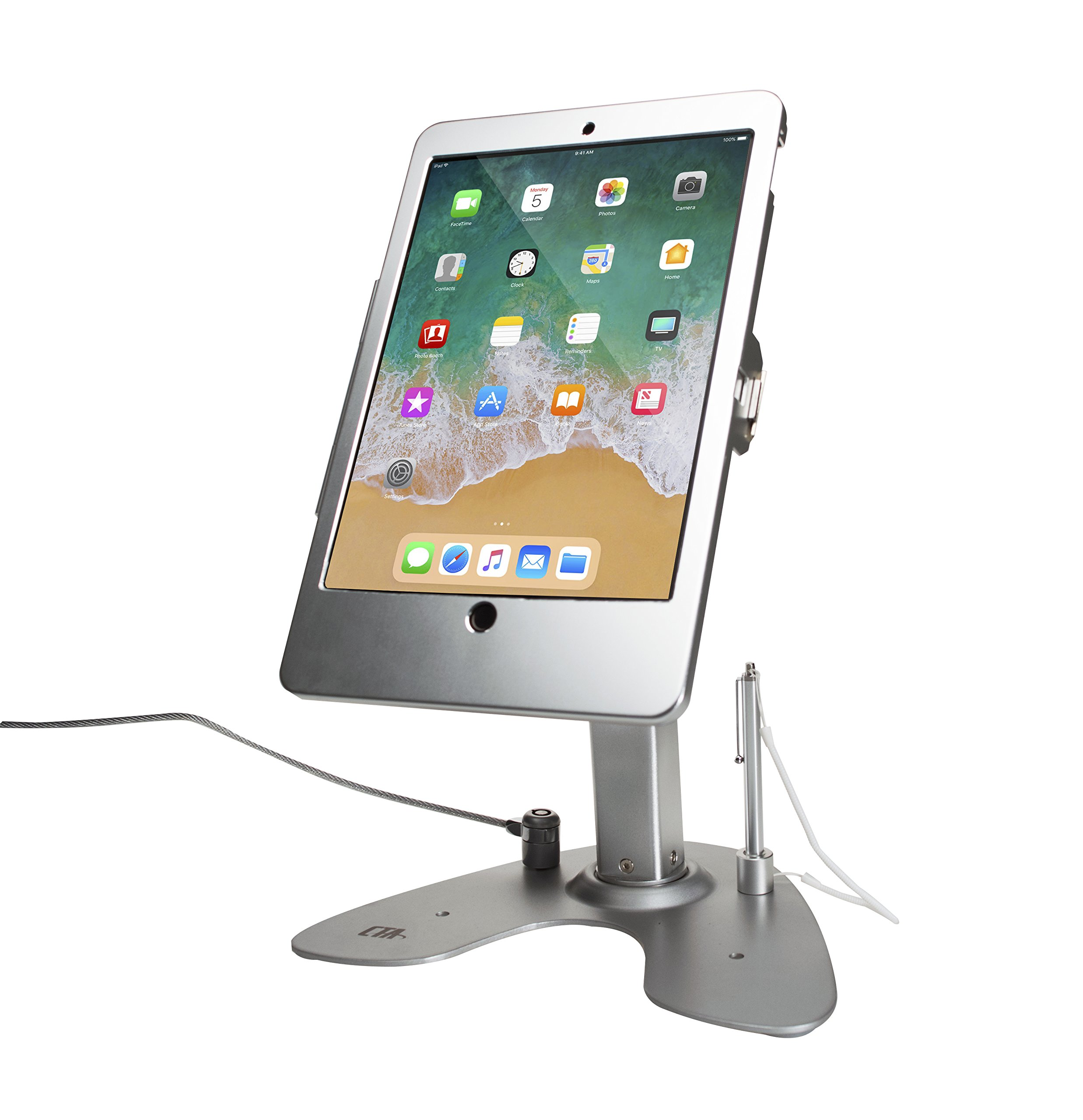 CTA Digital PAD-ASKT Dual Security Kiosk Stand with Locking Case and Cable for iPad Pro 10.5