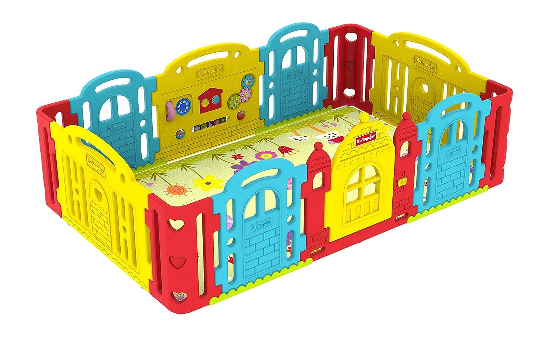 amazoncom  dwinguler castle kids playpen(rainbow)  baby -