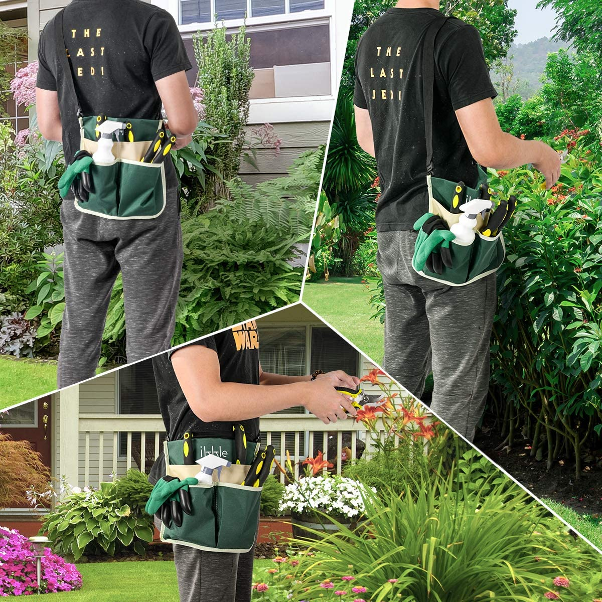 Lightweight Pruning Shears- Portable Garden Bench EVA Foam Pad With Kneeling Pad Adjustable Belt Tool Pounch Protect Knees Clothes Garden Kneeler And Seat With 2 Bonus Tool Pouches Sturdy