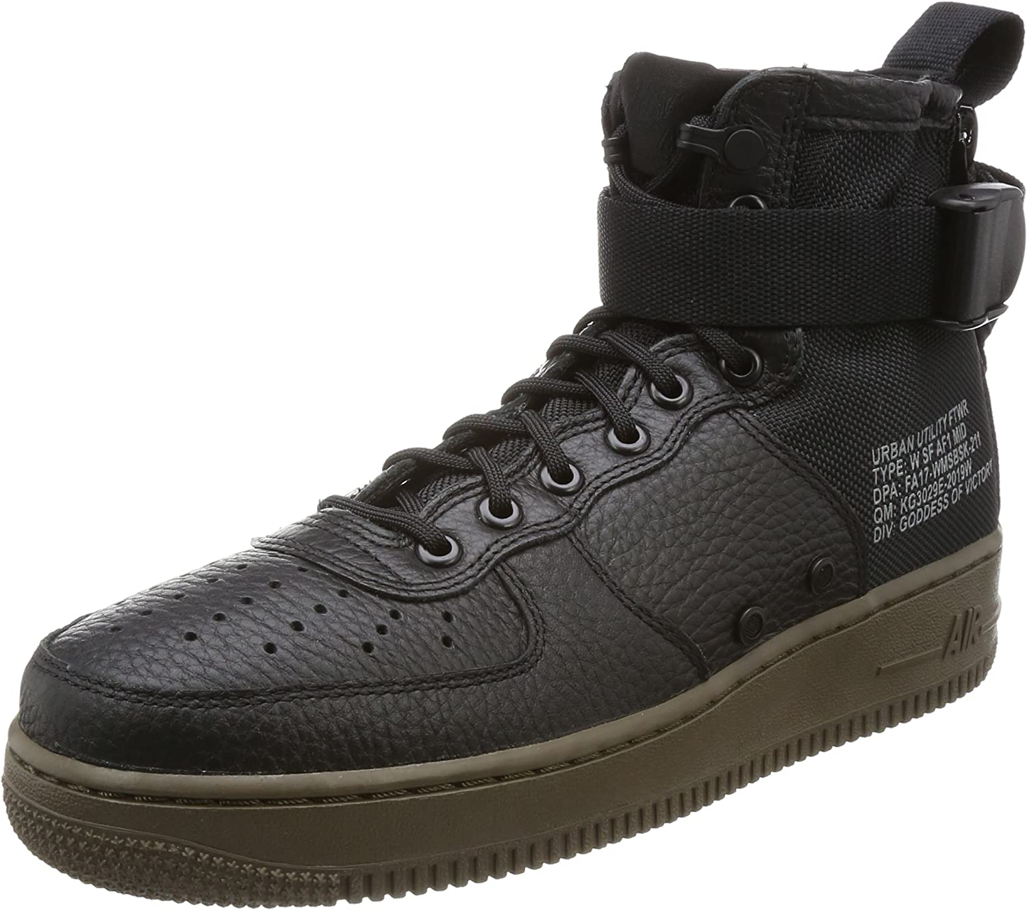NIKE Womens WS F Air Force 1 AF1 Mid BlackBrown Size 6.5
