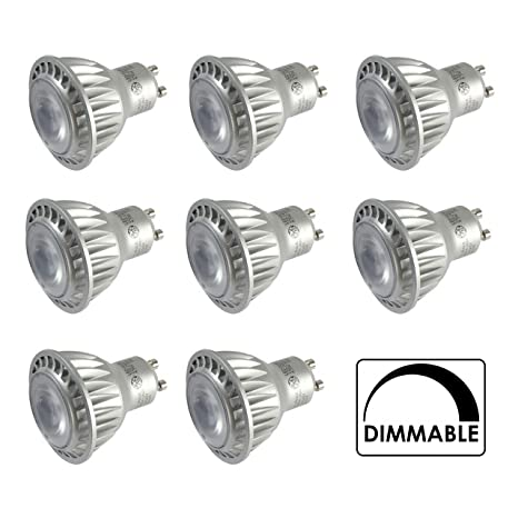 8 bombillas LED de 4,5 W regulables de marca GE GU10 blanco frío 4000