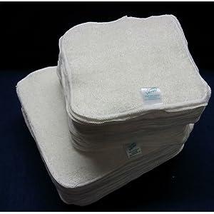 Cheeky Wipes Lot de 25 lingettes lavables en bambou pour bébé