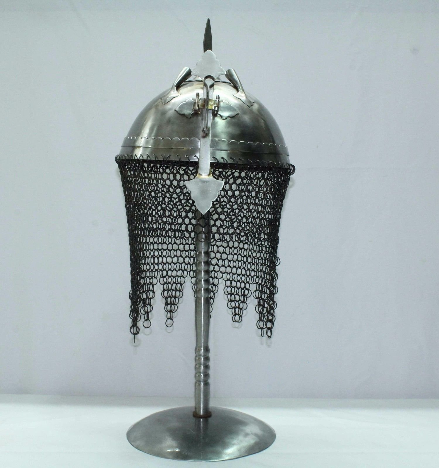 Rajasthan Gems Indo Persian Ottoman Rajput Islamic Soldier Helmet Armour with Stand Decorative