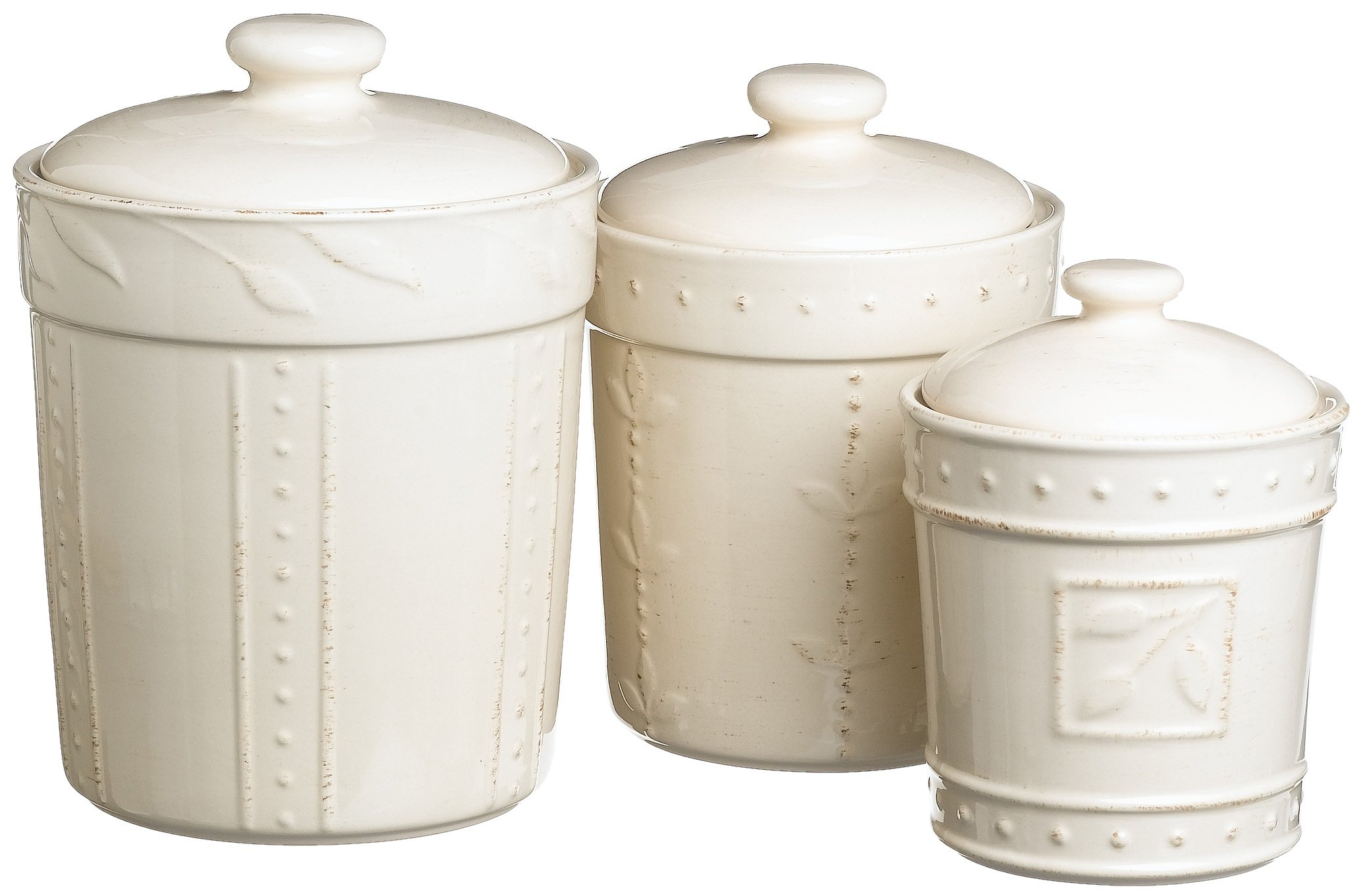 Signature Housewares Sorrento Collection Canisters Ivory