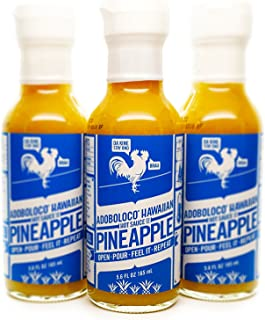 product image for Pineapple Habanero Hot Sauce - Adoboloco Hot Sauce - Medium Sweet Hot Sauce - 3, 5oz Bottles