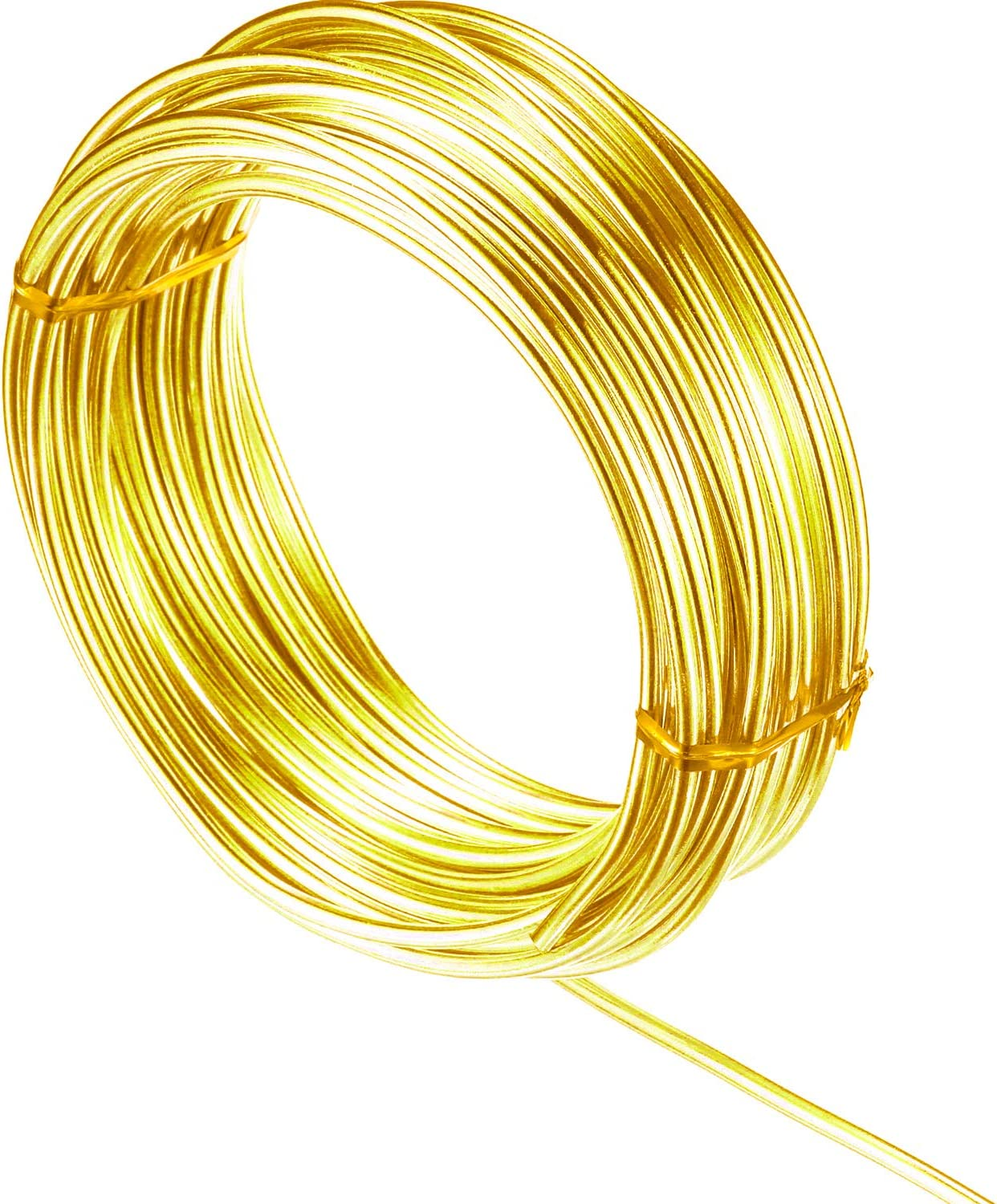 32.8 Feet 10M 3mm Aluminum Wire Aluminum Craft Wire Aluminum Craft Wire Artistic Floral Colored Jewely Beading Wire Bendable Metal Craft Wire Aluminum Flat Wire Dolls Skeleton DIY Crafts Wire Yellow