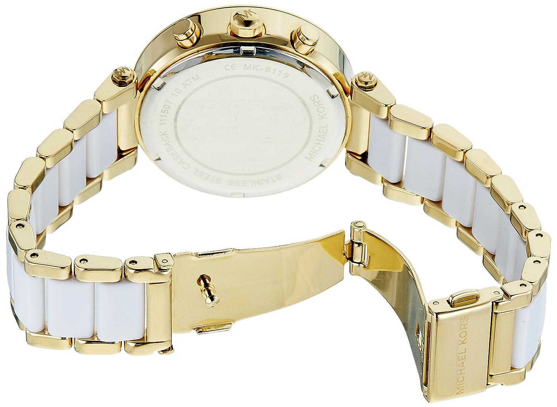7cbdc537e534 Amazon.com  Michael Kors Women s Parker White Watch MK6119  Michael Kors   Watches