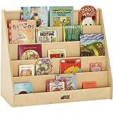 ECR4Kids-ELR-0339 Birch Hardwood Single-Sided Bookcase Display Stand for Kids, 5 Shelves, Natural Birch Hardwood Kids' Booksh