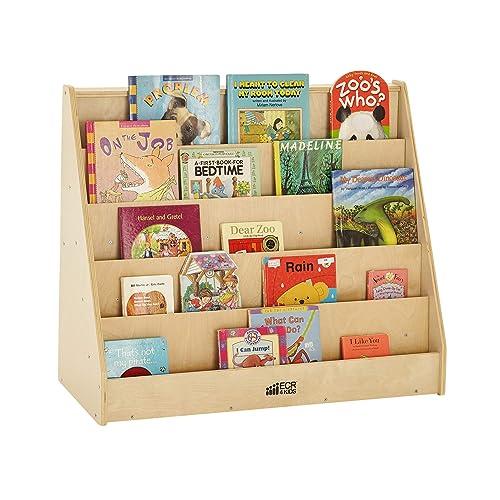 ECRA4Kids-ELR-0339 Single-Sided Bookcase Display Shelves