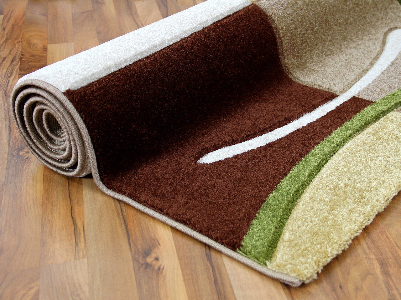 Designer teppich maui braun beige grün karo in größen amazon