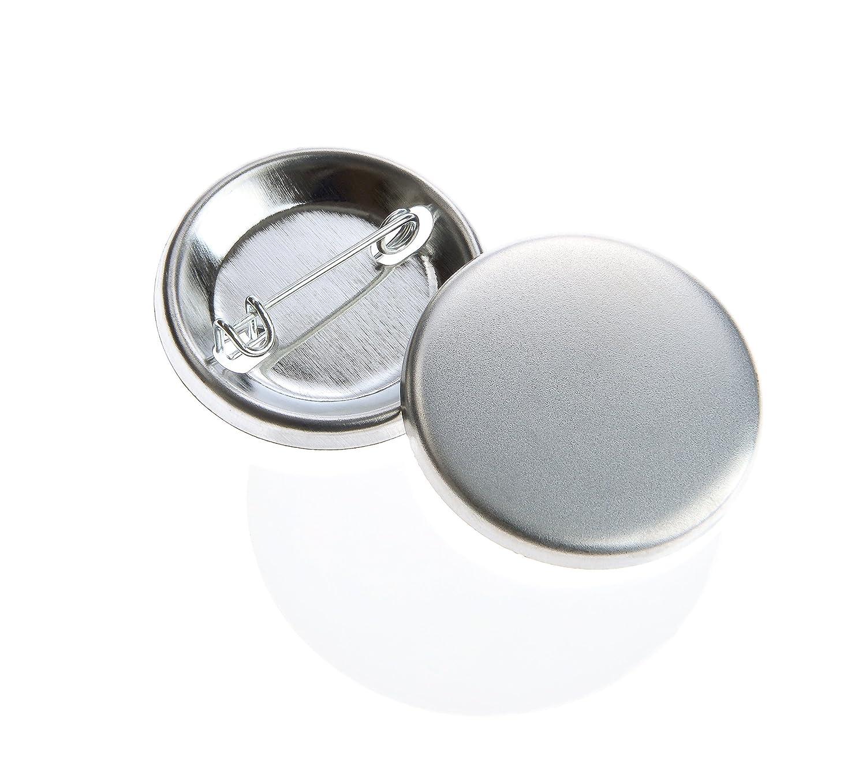 Buttonrohlinge 56mm mit Sicherheitsnadel f/ür Buttonboss Buttonmaschine 100 St/ück