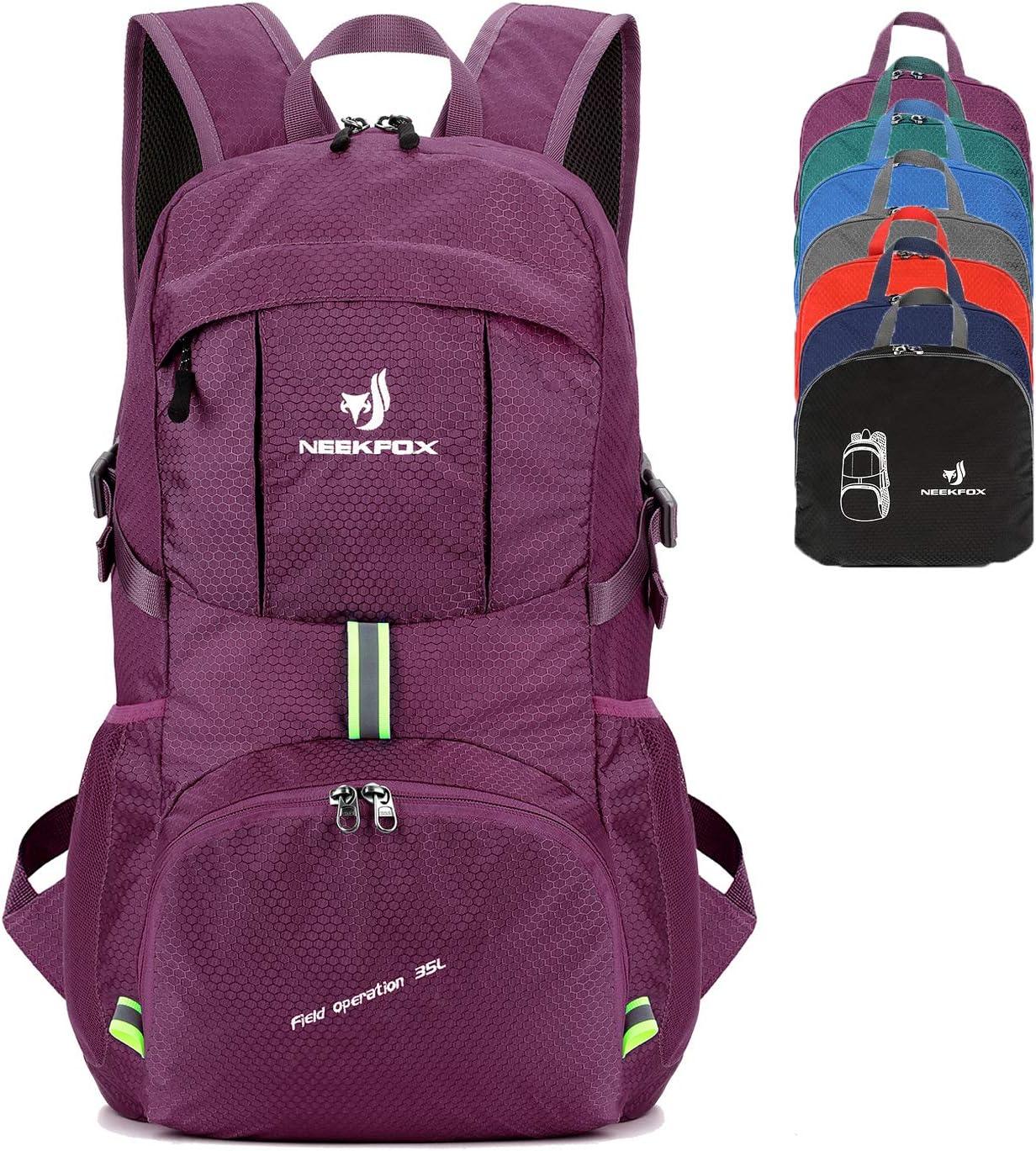 NEEKFOX Packable Lightweight Hiking Daypack 35L Travel Hiking Backpack for Women Men