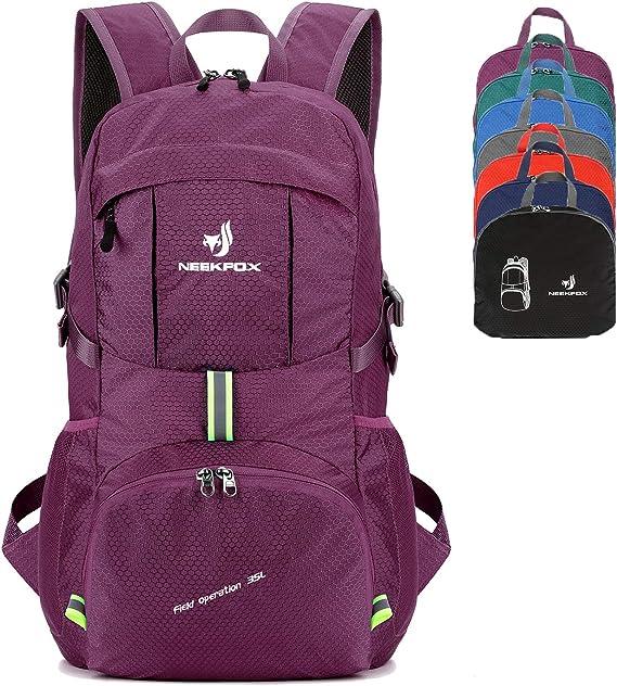 NEEKFOX Packable Lightweight Hiking Daypack 35L Travel Hiking Backpack