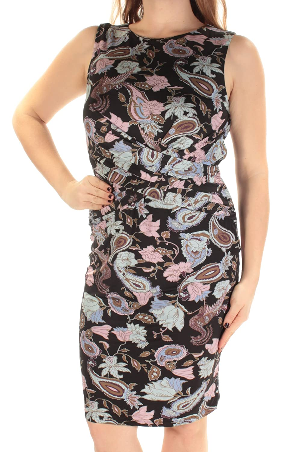 3f7b4024 Amazon.com: Catherine Malandrino $298 Womens New 1173 Black Floral Sheath  Dress 10 B+B: Clothing