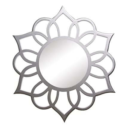 Image Unavailable Not Available For Color Patton Wall Decor Silver Round Ornate Accent Mirror