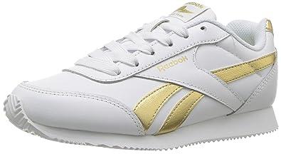 9bd907a95ad319 Reebok Unisex Royal Cljog 2 Sneaker White Gold met 4 Child US Little Kid