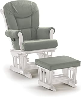 Shermag Glider Rocker Combo White with Grey  sc 1 st  Amazon.com & Amazon.com: Shermag Recliner Glider Chair Cherry Honey: Baby islam-shia.org
