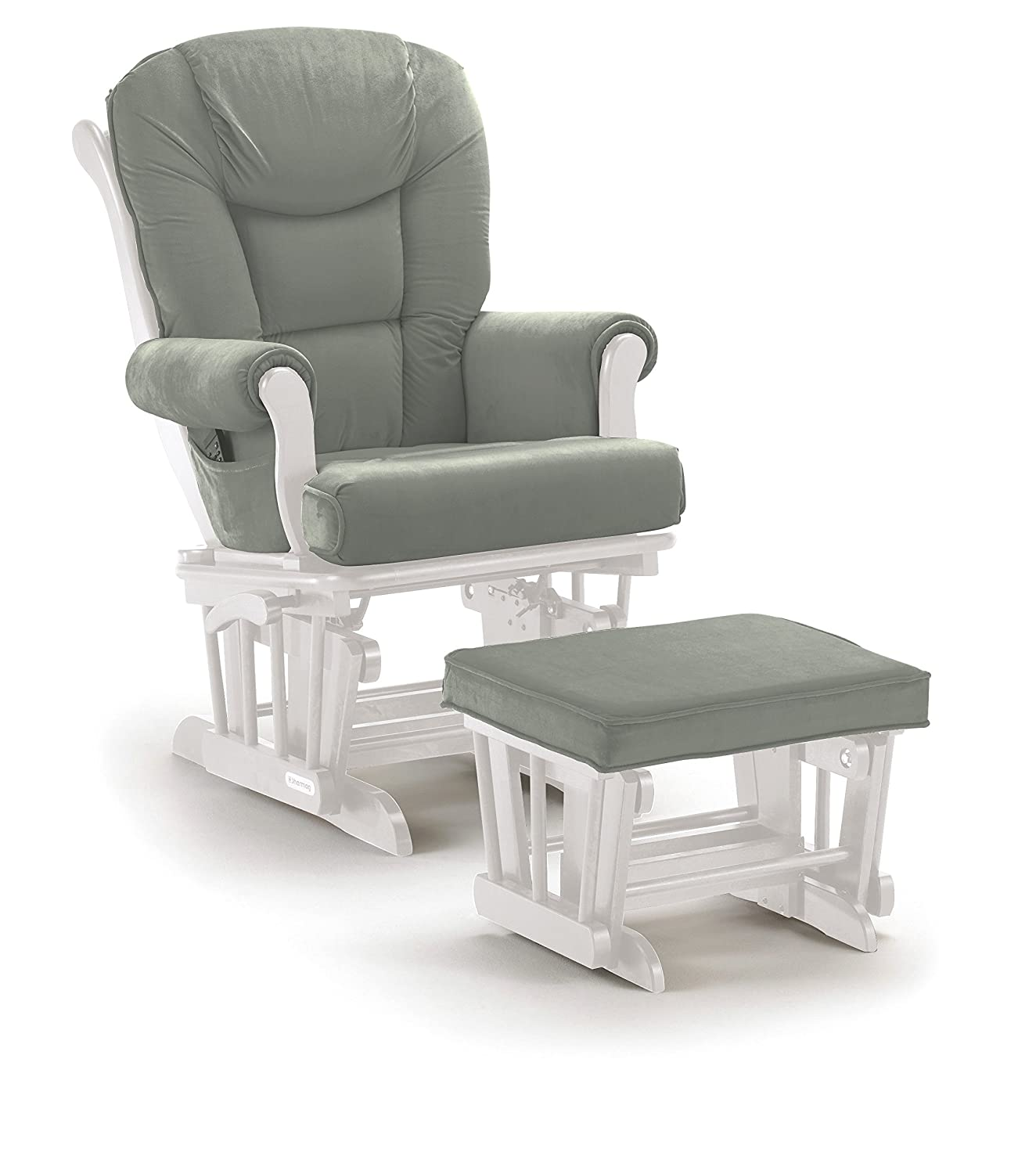 Shermag Glider Rocker Combo White with Grey  sc 1 st  Amazon.com & Amazon.com: Gliders Ottomans u0026 Rocking Chairs: Baby Products ...