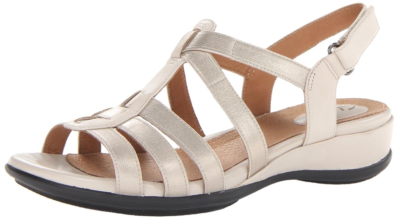 CLARKS Women's Tiffani Oribel Wedge Sandal B00DY7RLRG 12 B(M) US|Beige