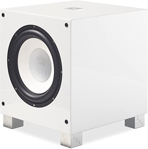 REL Acoustics T 9i Subwoofer, 10 inch Front-Firing Driver, Arrow Wireless Port, High Gloss White