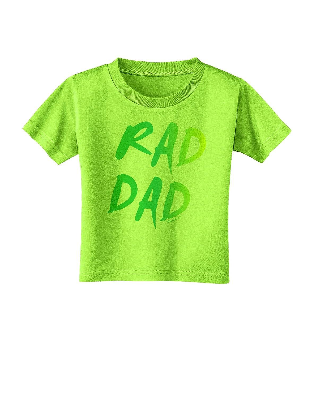 TooLoud Rad Dad Design 80s Neon Toddler T-Shirt