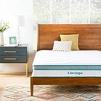 Linenspa 10 Inch Memory Foam and Innerspring Hybrid Mattress - Medium Feel - Full
