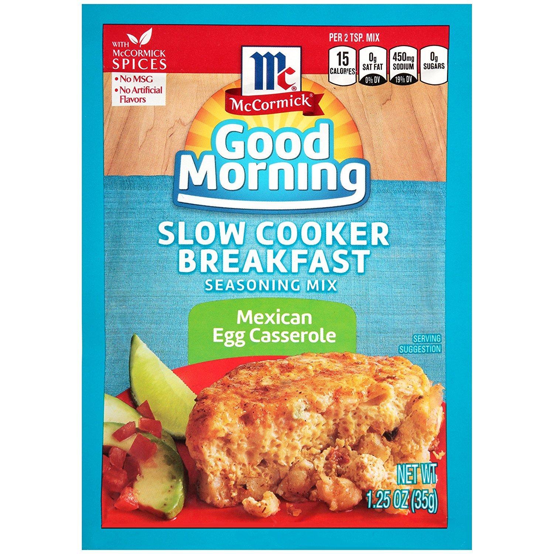 McCormick Slow Cooker Breakfast Seasoning Mix, 1.25 OZ (Mexican Breakfast Egg Casserole, Pack - 1)