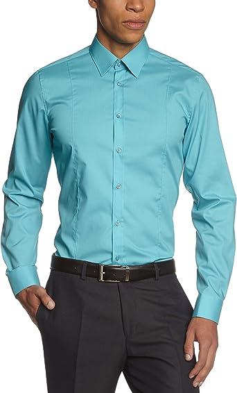 Venti - Camisa para Hombre, Talla S, Color Azul Turquesa 157: Amazon.es: Ropa y accesorios