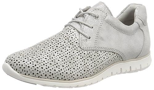 23728, Sneakers Basses Femme, Beige (Dune Metallic), 37 EUMarco Tozzi