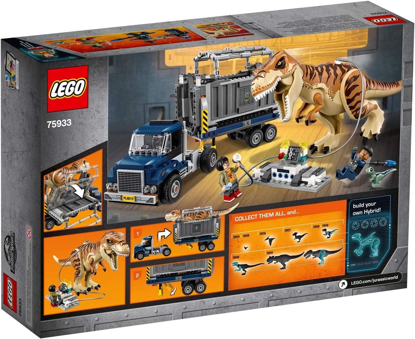 Brand New Sealed LEGO Jurassic World T 75933 rex Transport 2018