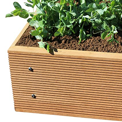 Amazon.com: ECOgardener Premium Raised Bed Garden Planter ... on herb garden planter designs, landscape planter designs, backyard planter designs, raised garden trough planters, raised garden planters outdoor,