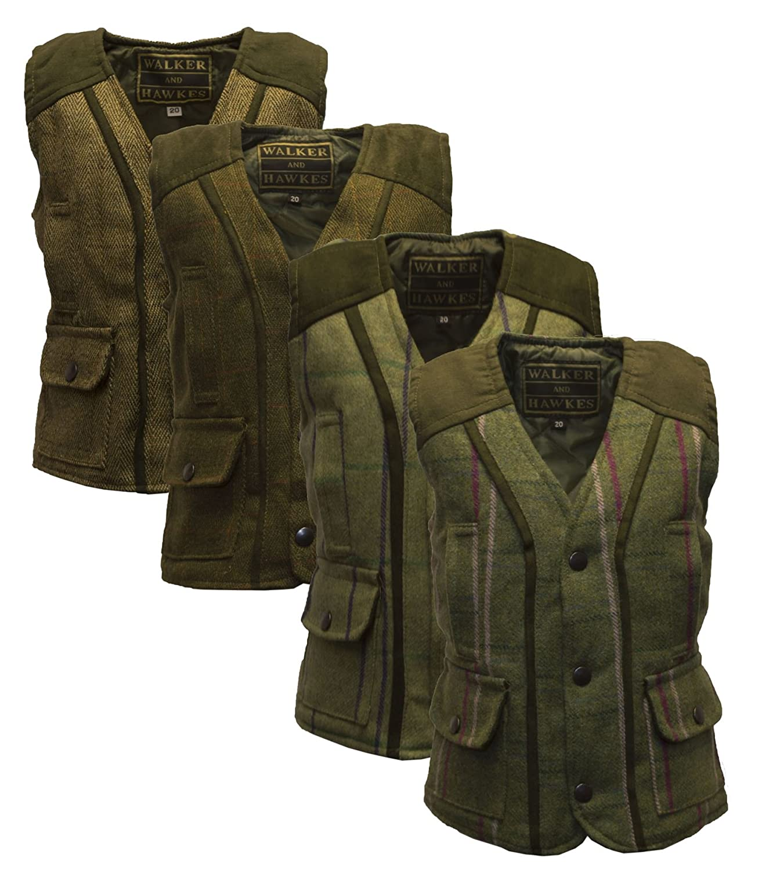 Walker and Hawkes Baby Boys' Tweed Waistcoat Bodywarmer Fitted Gilet Wool
