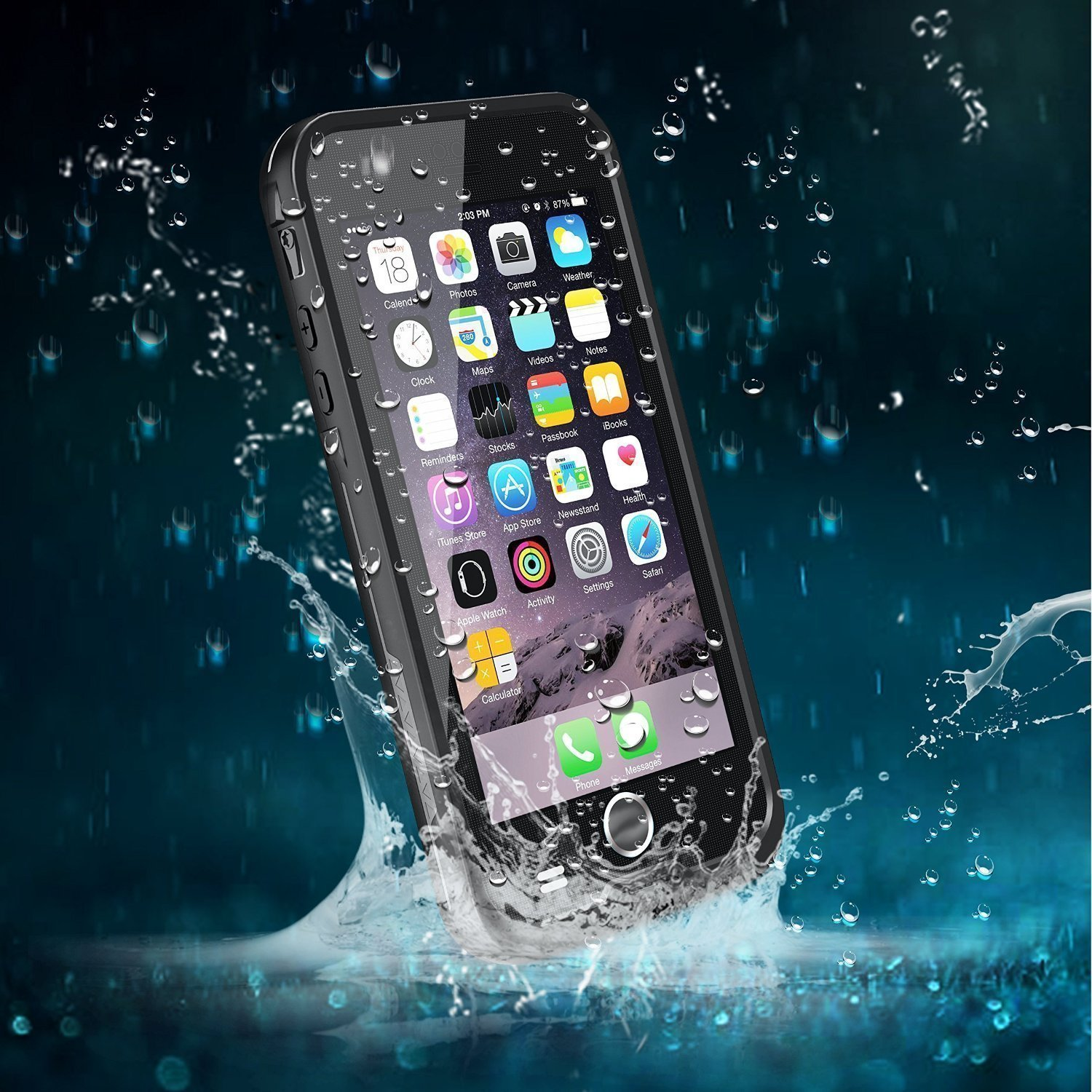 buy popular c306b e7e18 iPhone 6S Case, Bessmate (TM) [New Version] 6.6 ft Waterproof Durable Full  Sealed Cover with Touched Transparent for iPhone 6S (4.7 inch) (Black)