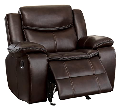 Homelegance Glider Manual Reclining Chair, Brown